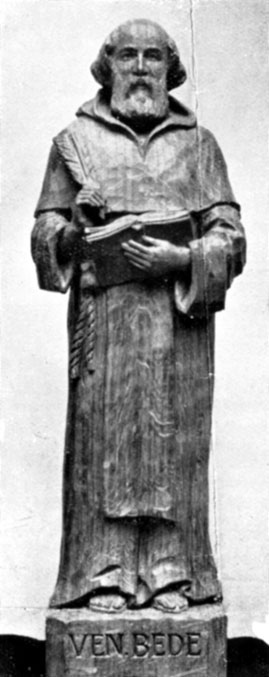 Photo of statuette of the Venerable Bede