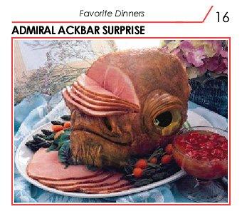 Admiral Ackbar's head as a sliced ham