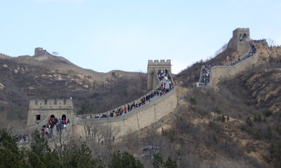 Crowded section of the wall at Badaling