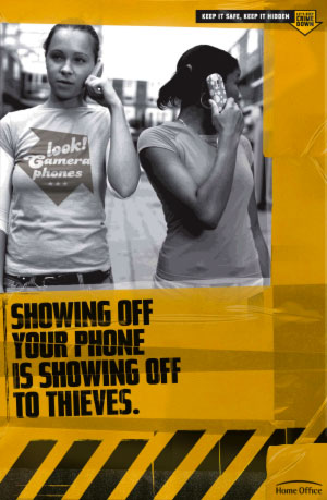 Showing off your phone is showing off to thieves.