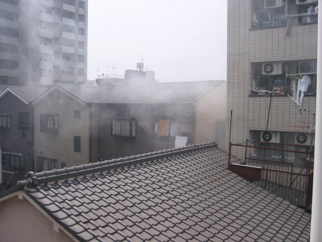 Apartment fire (back view)
