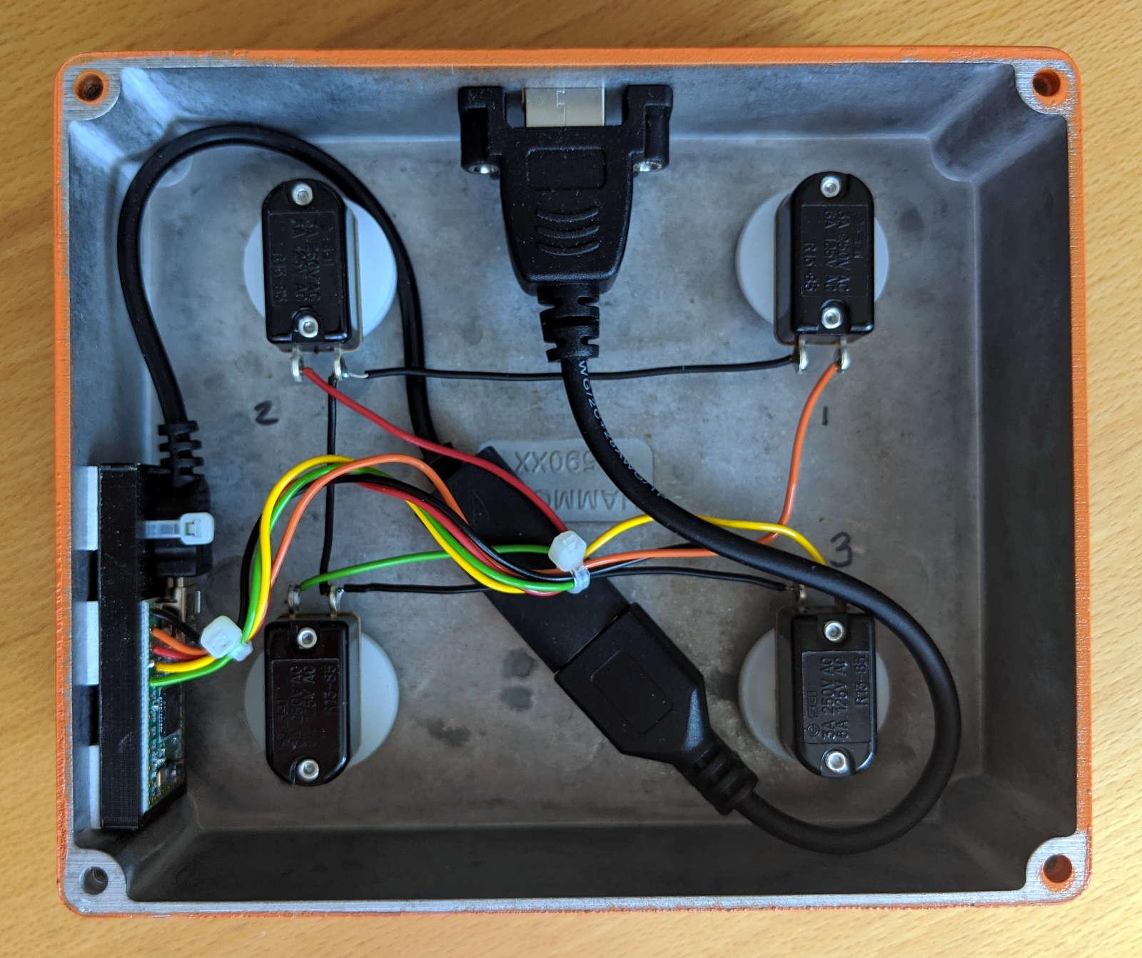 Wiring and internal arrangement