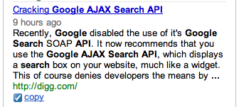 Cracking Google AJAX Search API