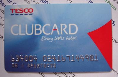 Mr I Spartacus's Tesco Clubcard