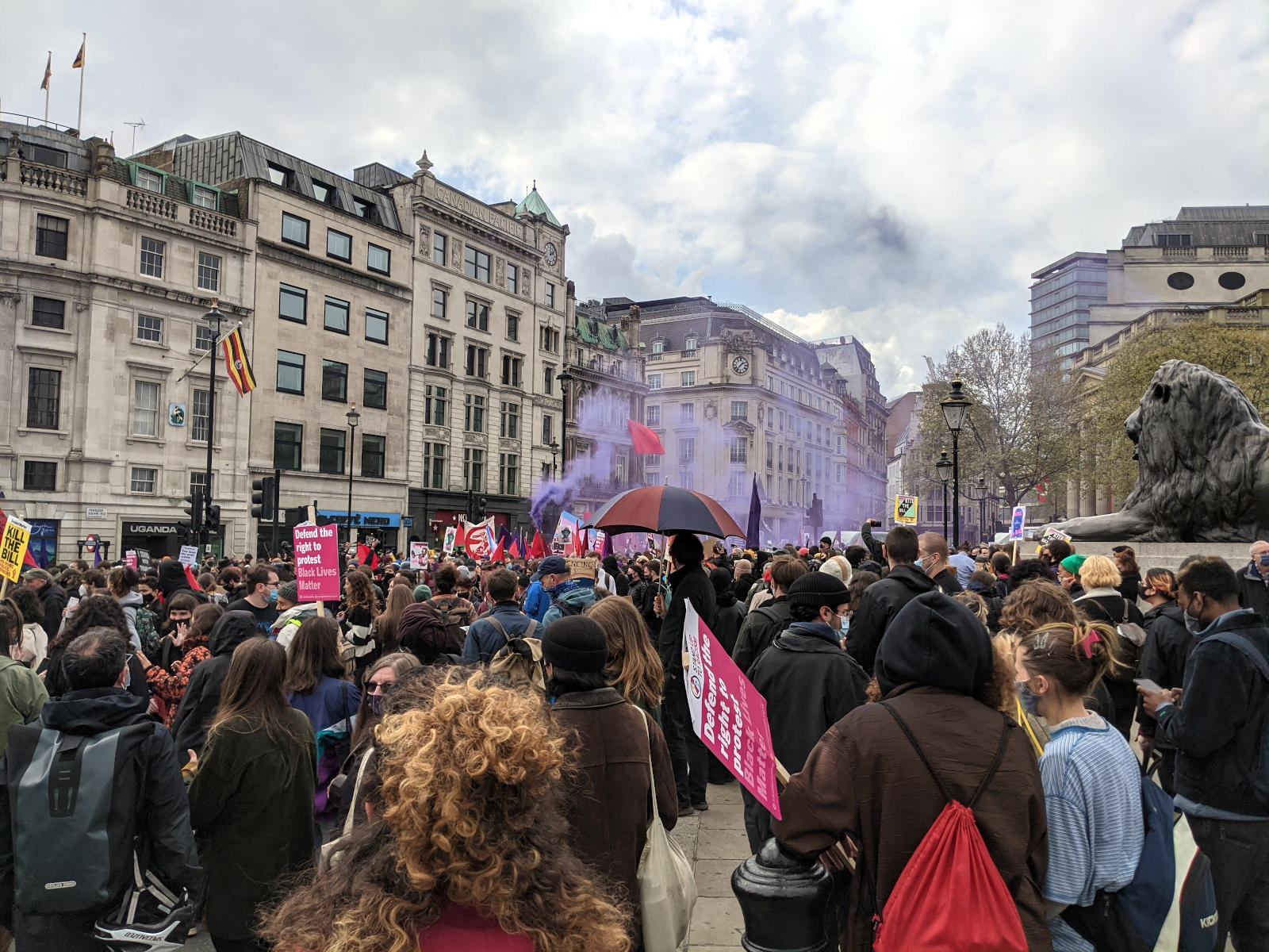 KIll the Bill protest, Trafalgar Square, May Day 2021