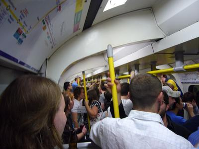 Party on a packed Circle Line train: inside the carriage
