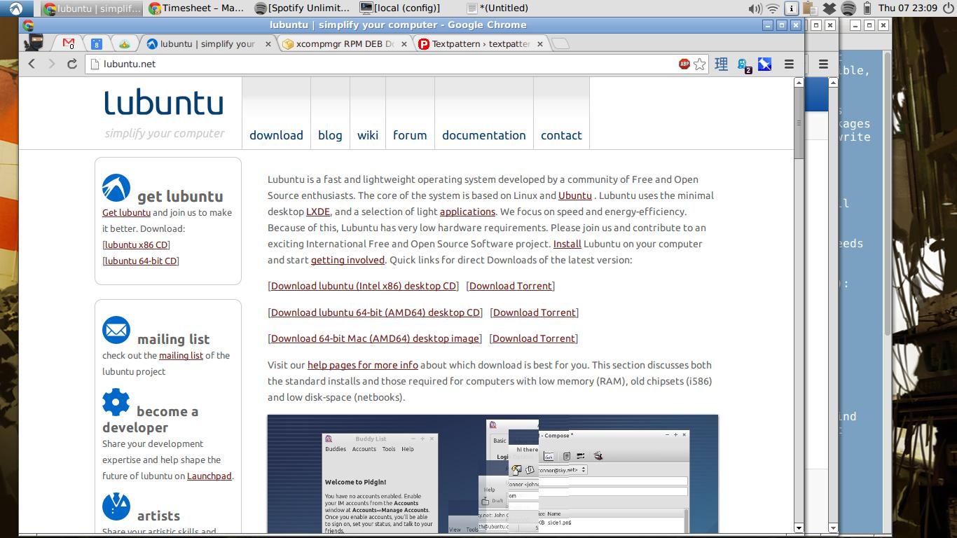 My Lubuntu 12.10 desktop