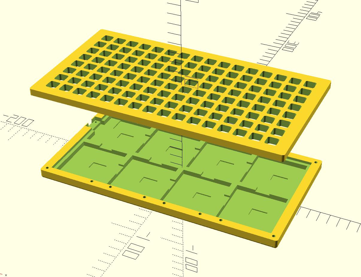 OpenSCAD model of NeoTrellis monome grid