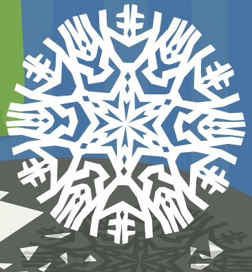 My first attempt at a snowflake