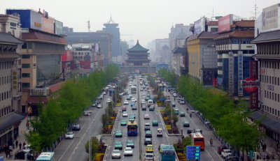 Xi'an viewed from the South Gate